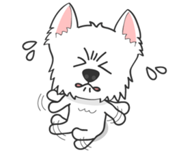 I LOVE West Highland White Terrier. sticker #2013136