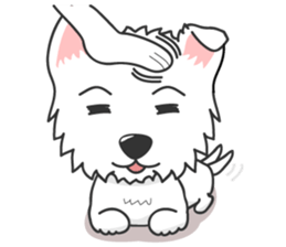 I LOVE West Highland White Terrier. sticker #2013142