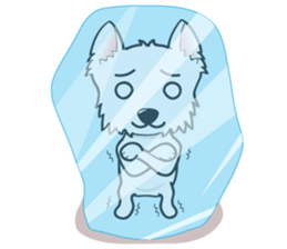 I LOVE West Highland White Terrier. sticker #2013143