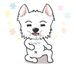 I LOVE West Highland White Terrier. sticker #2013144