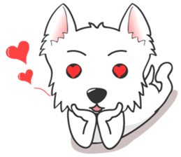 I LOVE West Highland White Terrier. sticker #2013145