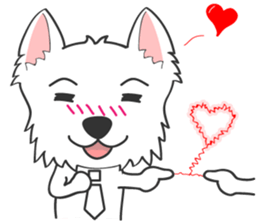 I LOVE West Highland White Terrier. sticker #2013146