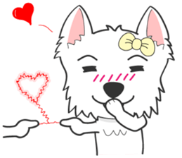 I LOVE West Highland White Terrier. sticker #2013147