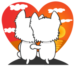 I LOVE West Highland White Terrier. sticker #2013148