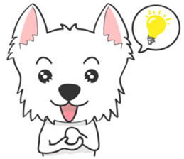 I LOVE West Highland White Terrier. sticker #2013152
