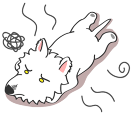 I LOVE West Highland White Terrier. sticker #2013154