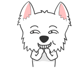 I LOVE West Highland White Terrier. sticker #2013164