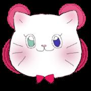 สติ๊กเกอร์ไลน์ White cat