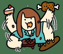 Glutton Nana sticker #2031267
