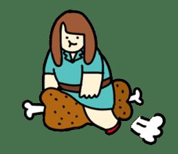 Glutton Nana sticker #2031273