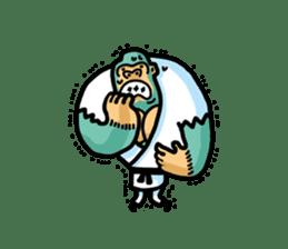 KARATE animal sticker #2032610