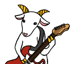 The musician of a pasture sticker #2037727