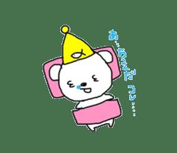 polar bear called white bear sticker #2039485