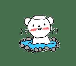 polar bear called white bear sticker #2039502