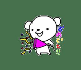 polar bear called white bear sticker #2039524