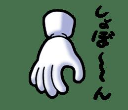 Hand Man No. 1 sticker #2039851