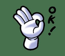 Hand Man No. 1 sticker #2039862