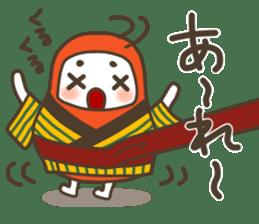The Samurai Daruma doll sticker #2041984