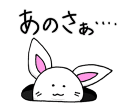 Bunny that use the Osaka dialect. sticker #2042048