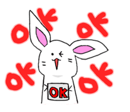 Bunny that use the Osaka dialect. sticker #2042052