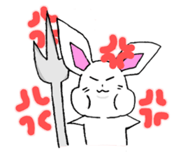 Bunny that use the Osaka dialect. sticker #2042061