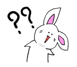 Bunny that use the Osaka dialect. sticker #2042066