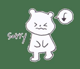 The heart-warming bear sticker #2043716