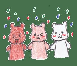 The heart-warming bear sticker #2043732