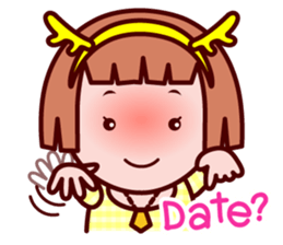 Sunny The little zodiac lover girl sticker #2044801