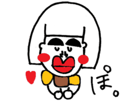 kuchibirukochan sticker #2047029