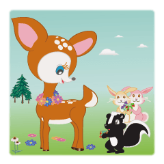 Fawn and her friends