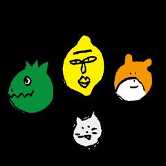 jarilemon&dinosaur&bear&cat