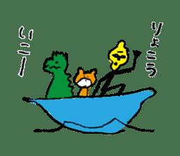 jarilemon&dinosaur&bear&cat sticker #2048303