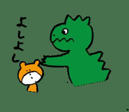 jarilemon&dinosaur&bear&cat sticker #2048310