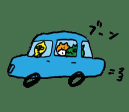 jarilemon&dinosaur&bear&cat sticker #2048323