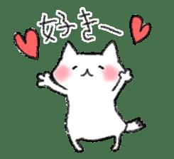 lovey dovey cat sticker #2048494