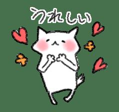 lovey dovey cat sticker #2048497