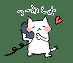 lovey dovey cat sticker #2048505