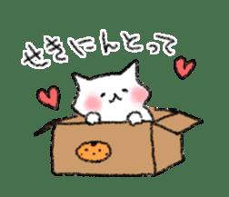 lovey dovey cat sticker #2048513