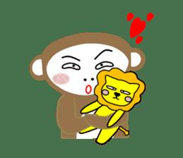 Mon and Rickey funny days sticker #2050861