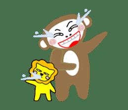 Mon and Rickey funny days sticker #2050862