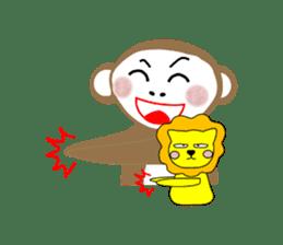 Mon and Rickey funny days sticker #2050874