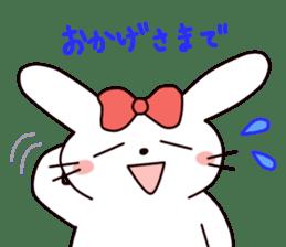 Ribbon of the rabbit 2 sticker #2050894