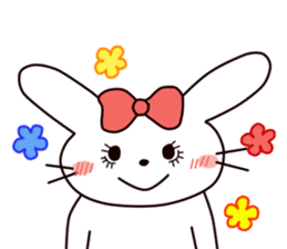 Ribbon of the rabbit 2 sticker #2050895