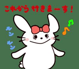 Ribbon of the rabbit 2 sticker #2050899
