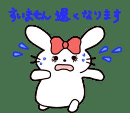 Ribbon of the rabbit 2 sticker #2050900