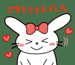 Ribbon of the rabbit 2 sticker #2050903