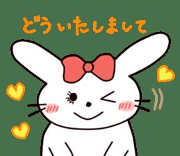 Ribbon of the rabbit 2 sticker #2050904
