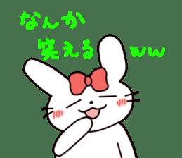 Ribbon of the rabbit 2 sticker #2050905