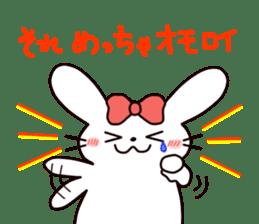Ribbon of the rabbit 2 sticker #2050906